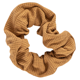 NIEUW - Scrunchie wafel camel