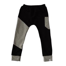 joggingbroek zwart met grijs vlak