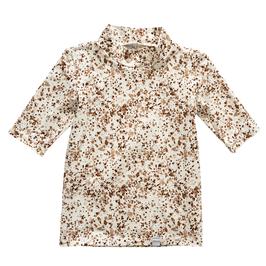NIEUW - Shirt vlekken korte mouw en colletje