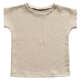 NIEUW - Shirt wafel naturel beige korte mouw