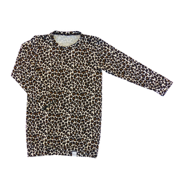 Jurk sweaterdress panter bruin