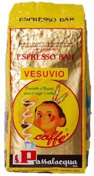 "Passalacqua - ""Vesuvio"" in ganzen Bohnen 1 kg"