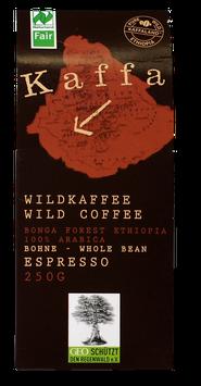 Kaffa - Espresso 250 gr. in ganzen Bohnen aus biologischem Anbau