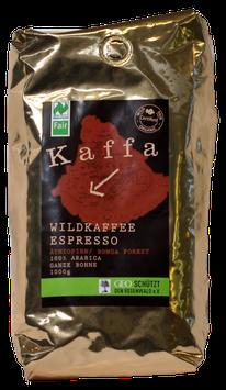 Kaffa - Espresso 1 kg. in ganzen Bohnen aus biologischem Anbau