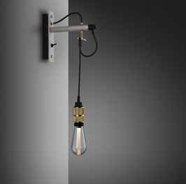 Buster + Punch Wandleuchte  Hooked Wall Nude stone/grau
