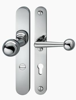 Art dèco / Bauhaus Sicherheits- Langschildgarnitur KNO  RUH-06 RL ES2/FH