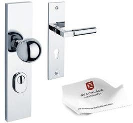 CROMAT BAUHAUS Sicherheitsgarnitur 245-02ZAMAK 72 mm Abstand für Wohnungseingangstüren