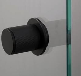 B+P LINEAR FESTER Knopf ZYL in 3 verschiedenen Finishes für Ganzglastüren