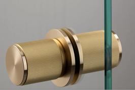 B+P LINEAR FESTES Knopfpaar ZYL in 3 verschiedenen Finishes für Ganzglastüren