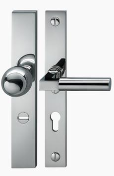 Bauhaus Sicherheits- Langschildgarnitur KNO Q GRO 20-04 EL ES2/FH 72 mm