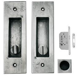 FAMA Schiebetürgriffmuschelset NS4732 mit Schloßß für WC/Bad