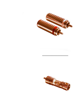 2x CINCH STECKER - RED COPPER - RCA PLUGS