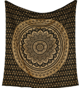 "indisches Dekotuch ""Lotus Mandala"""
