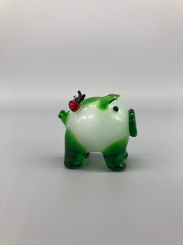 lucky piglet in green