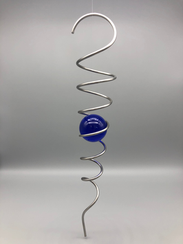 Kugelspirale - kobaltblau