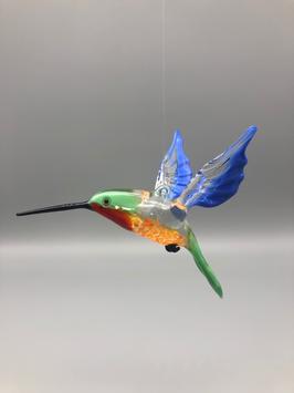 HUMMINGBIRD IN GREEN/PURPLE/GREEN