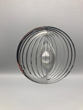 EDELSTAHLSPIRALE - RUND MIT GLASKUGEL
