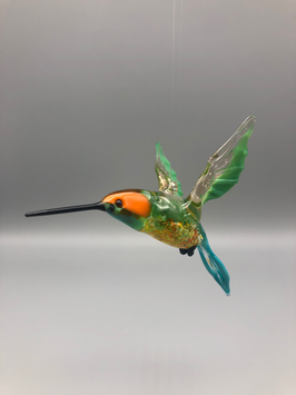 HUMMINGBIRD IN ORANGE/GREEN/BLUE