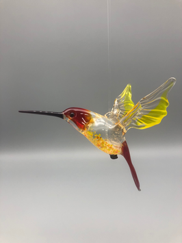 HUMMINGBIRD IN RED/YELLOW/RED