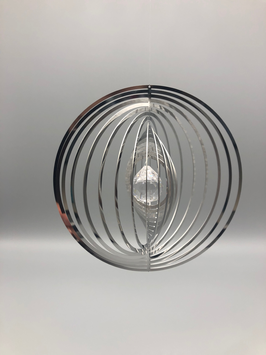 stainless steel spiral - round with glass ball