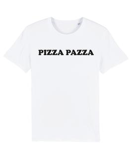 """WHITE """"PIZZA PAZZA"""" T-SHIRT SCHWARZ"""