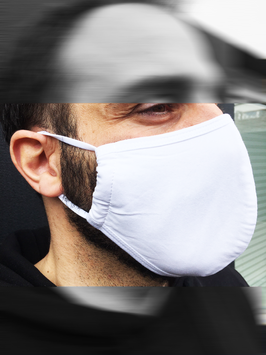 3-Lagige-Atemschutzmaske Weiß