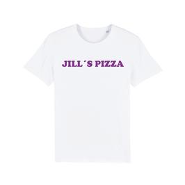 "WHITE ""JILL'S PIZZA"" T-SHIRT LILA"