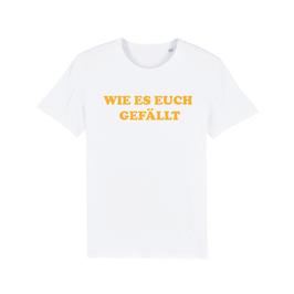 """WHITE """"WIE ES EUCH GEFÄLLT"""" T-SHIRT GELB"""