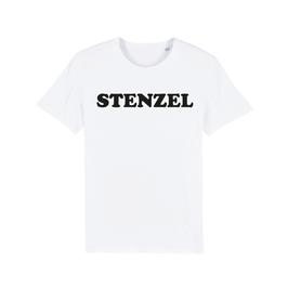 """WHITE """"STENZEL"""" T-SHIRT SCHWARZ"""