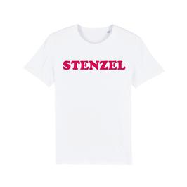 """WHITE """"STENZEL"""" T-SHIRT ROT"""