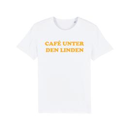 """WHITE """"CAFÉ UNTER DEN LINDEN"""" T-SHIRT GELB"""