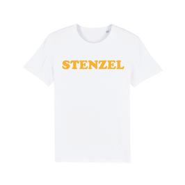 """WHITE """"STENZEL"""" T-SHIRT GELB"""