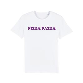 """WHITE """"PIZZA PAZZA"""" T-SHIRT LILA"""