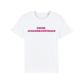 """WHITE """"ESCHE JUGENDKUNSTHAUS"""" T-SHIRT ROT"""