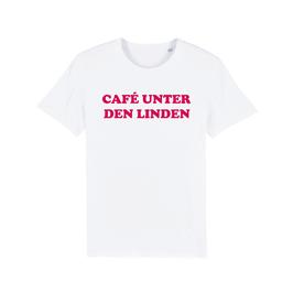 """WHITE """"CAFÉ UNTER DEN LINDEN"""" T-SHIRT ROT"""