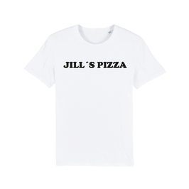 "WHITE ""JILL'S PIZZA"" T-SHIRT SCHWARZ"
