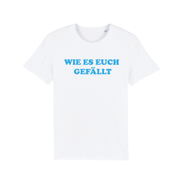 """WHITE """"WIE ES EUCH GEFÄLLT"""" T-SHIRT BLAU"""