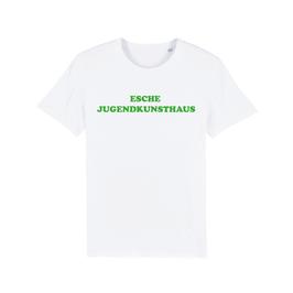 """WHITE """"ESCHE JUGENDKUNSTHAUS"""" T-SHIRT GRÜN"""