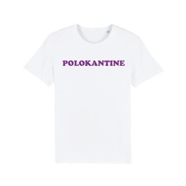"WHITE ""POLOKANTINE"" T-SHIRT LILA"