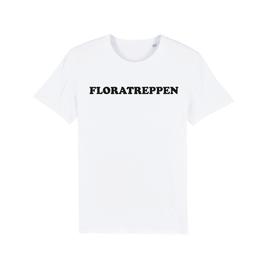 """WHITE """"FLORATREPPEN"""" T-SHIRT SCHWARZ"""