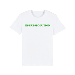 "WHITE ""ESPRESSOLUTION"" T-SHIRT GRÜN"