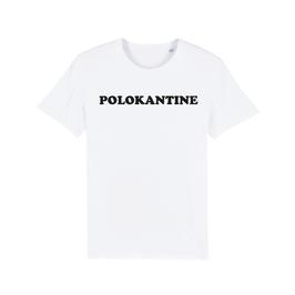 "WHITE ""POLOKANTINE"" T-SHIRT SCHWARZ"