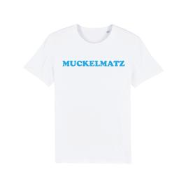 """WHITE """"MUCKELMATZ"""" T-SHIRT BLAU"""