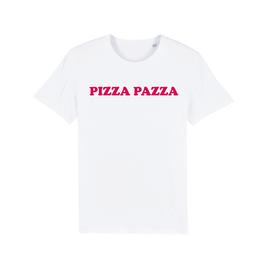 "WHITE ""PIZZA PAZZA"" T-SHIRT ROT"