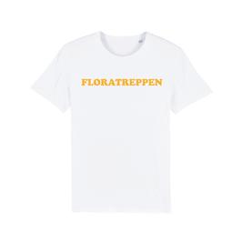"WHITE ""FLORATREPPEN"" T-SHIRT GELB"