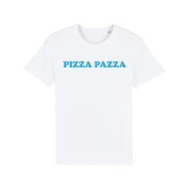 """WHITE """"PIZZA PAZZA"""" T-SHIRT BLAU"""