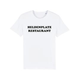"""WHITE """"HELDENPLATZ RESTAURANT"""" T-SHIRT SCHWARZ"""
