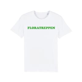"WHITE ""FLORATREPPEN"" T-SHIRT GRÜN"