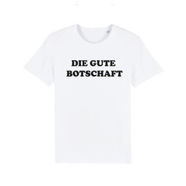 """WHITE """"DIE GUTE BOTSCHAFT"""" T-SHIRT SCHWARZ"""