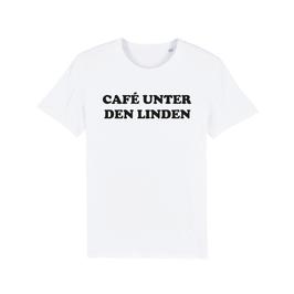 """WHITE """"CAFÉ UNTER DEN LINDEN"""" T-SHIRT SCHWARZ"""